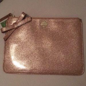 Kate Spade Jitterbug Pink Glitter Pouch
